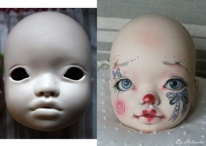 Elleki with Helliantas faceup before and after